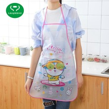 LKQBBSZ Cute PE Apron Kitchen wear Oil Prevention Apron Women Cartoon Oil-proof Bust Sleeveless Kit Bib Waterproof Apron