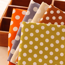 1 Meter Multi Color Red Polka Dot Fabric Cotton Blue Green Pink Wholesale For Shirts Clothes Bed Cloth Textile Children Clothing(China)