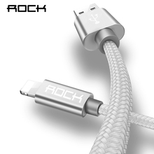ROCK For IPhone Cable IOS 10 9 For Fast Charger Lightning to USB Cables Charging Cord 0.2M 1.0M 1.8M 2.1A  For Mobile Phone