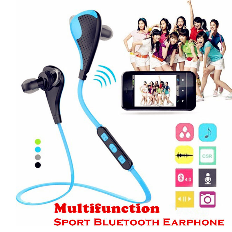 Multifunction Stereo Bluetooth Earphone V4.1 Wireless Earphones Sports Earbud with Self-timer function<br><br>Aliexpress