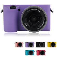 Purple Soft Silicone Skin Case Bag Camera Cover Protector For Sony A6000