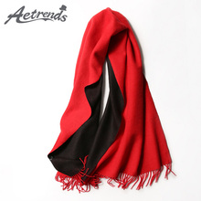 [AETRENDS] 2017 New Winter Cashmere Scarf Patchwork Women Scarves Fashion Cashmere Shawl Wrap Z-6063()