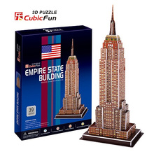 3D models toy Cubic Fun paper model jigsaw game The Empire State Building c704h