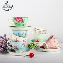 2016 High Quality Luxury Royal Bone China Coffee Cup Set European-Style Butterfly Rose Milk Afternoon Tea Mug Creative Gift(China)