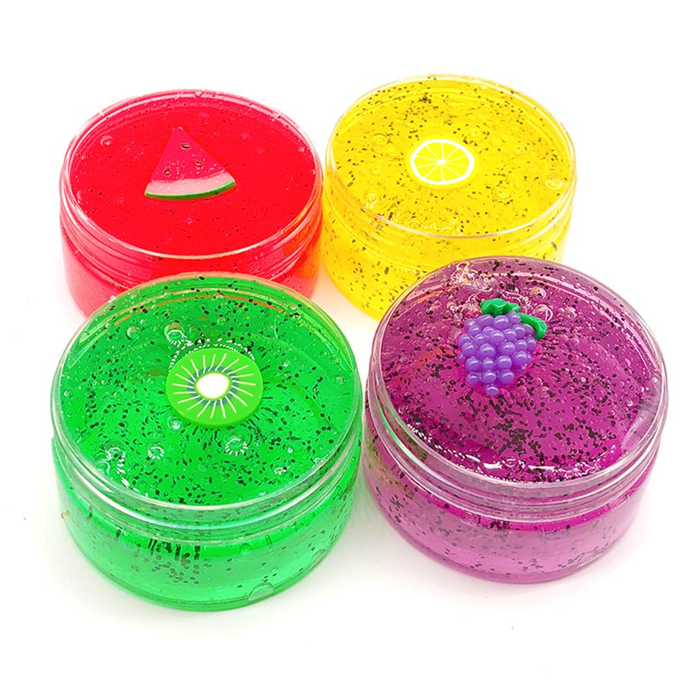 Colours Fruits Squishies Mud Slime Putty Scented Stress Clay Sludge Toy