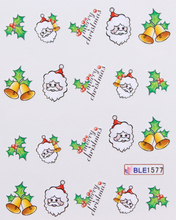 Wholesale 22 Designs Merry Christmas Nail Art Water Stickers For Natural/False Nails 100 sheets/lot Free Shipping