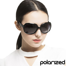 Brand Design POLARIZED Lens Sun Glasses Classic Oversized Round Frame Luxury France Fashion Sunglasses for Women Lunette Luxe