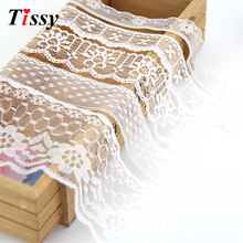 10Yard/Lot 5 Style White High Quality Lace Ribbon Embroidered Net Lace Trim Fabric For Home&Garden And Wedding Decoration