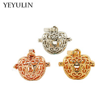 New Design Aromatherapy Diffuser Apple Wing Ball Shaped Locket Pendant For Jewelry Making DIY Mixed Color 3pcs(China)