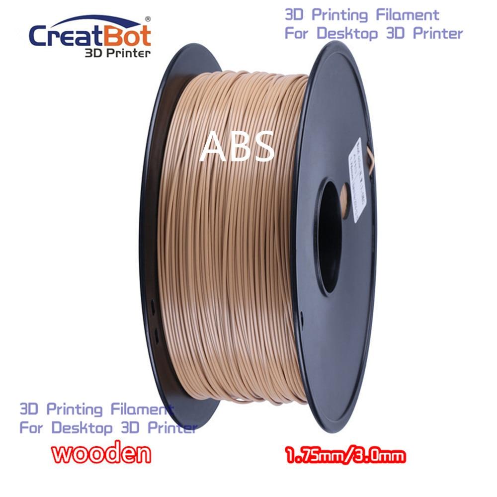 ABS 1.75mm / 3.00mm Wooden Dropshipping CreatBot High Quality plastic 3D printing filament for Desktop FDM 3d printer<br><br>Aliexpress