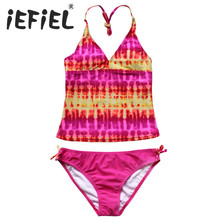 Hotselling iEFiEL 2 Pieces Girls Kids Children Swimsuit Beachwear Bathing Suits Clothes Outfits for Summer Surfing and Holiday