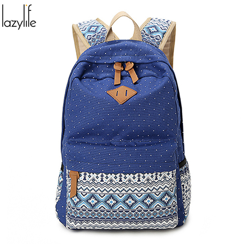 LAZYLIFE Brand High Quality Cute Women Canvas Backpack for Teenage Girls School backpacks For Student Casual Laptop Bags<br><br>Aliexpress
