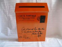 Free Shipping Rustic iron-mail mailbox post box letter box  mail box mailboxes Orange Color