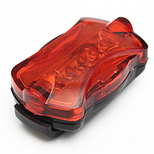 Waterproof Cycling Bicycle 5 LED 7 Mode Night Flashing Rear Lamp Red(China)