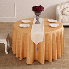 Heavy Yellow Rattan Flower Synthetic Hair Rectangle Square tablecloths Hotel All Sizes Table Cloth For Dining Table(China)