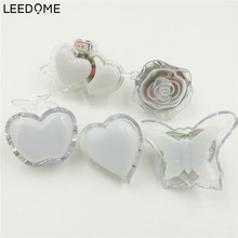 Leedome Colorful Apple Butterfly Heart Shape Night Light 3D Wall Lamp EU US Plug For Holiday Party Art Decoration Energy Saving