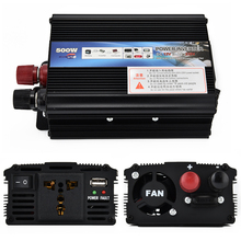 500W Car Power Inverter DC 12V to AC 220V-240V Battery Converter Power Supply Tool For Solar Wind Gas Generation With Switch USB(China)