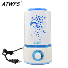ATWFS Ultrasonic Air Humidifier LED Lamp Mist Maker Aroma Essential Oil Diffuser Fogger Aromatherapy Diffuser Vaporizer Nebulize(China)