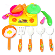 13 Pcs/Set Kids Pretend Play Toys Mini Plastic Kitchen Accessory Children Education Game Classic DIY Simulation Cooking Utensils