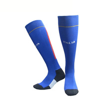 36-44 EUR Italy National Teams Thicken Towel Bottoms Home Gaol Soccer Socks Away Training Socks Football Sport Accessories(China)