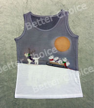 Track Ship+Vintage Vest Tanks Tank Tops Camis White Scottie Terrier Dog Baby Reindeer Sled on Snow Mountain 0971