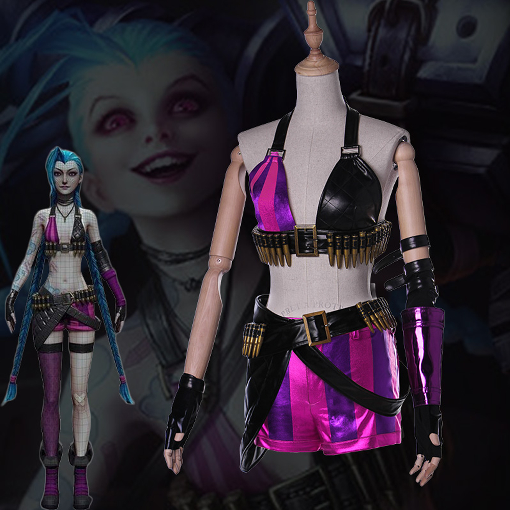 Hot Game LOL Start Guardian Lolita Jinx Cosplay Costume Women Sexy Costume
