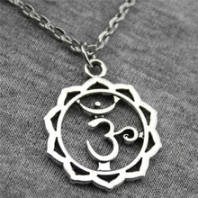 Buy Wholesale 30pcs Antique Silver Color 23*19mm Yoga Om Pendant Metal Chain Necklace, Fashion Necklace Jewelry Women for $16.99 in AliExpress store