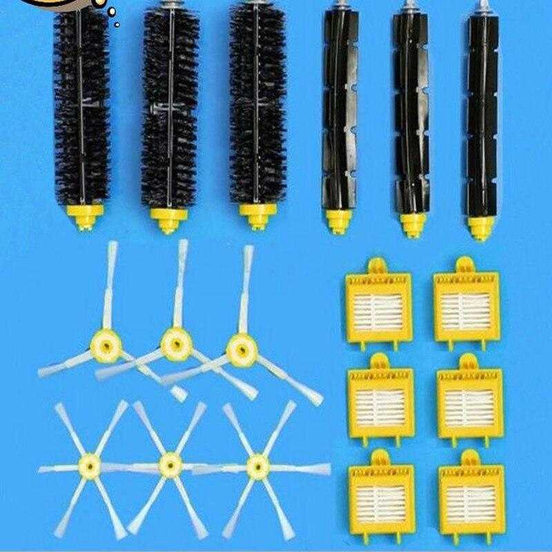 18pc/lot Robot 760/770/780/790 Vacuum Cleaner Parts 3 Set Brush + 3 Triangle Side Brush+ 3 Hexagon Side Brush+ 6 Hepa Filter<br>