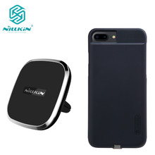 Nillkin Qi Car wireless charger pad Receiver case For iphone 6/6s /6s Plus/7/ 7 plus Phone Holder Magnetic Air Vent Mount pad
