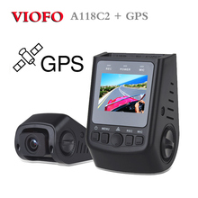 Free ship! Original VIOFO A118C2 HD 1080P Super Capacitor Car Dash camera GPS module Dashcam Video Recorder Registrator DVR(China)