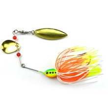 CAMTOA 15g Metal Rotary Sequins Swinging Flashing Ringing Fishing Lure Bait Lead Head Hook