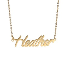 "Name "" Heather "" Nameplate Necklace for Women Personalized Stainless Steel Pendant Name Necklace nl-2447"