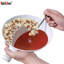 QuickDone Handle Separated Bowl With Isolated Separated Cereal Snack Bowl Popcorn Fruit Sauces Container AKC5091(China)