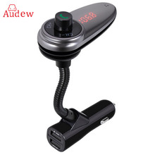 Car MP3 Audio Player Bluetooth FM Transmitter Wireless FM Modulator Car Kit HandsFree LED Display USB Charger for iPhone/Samsung(China)