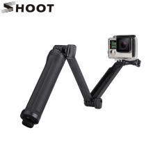 SHOOT 3 Way Grip Waterproof Monopod Selfie Stick For Gopro Hero 5 4 3 Session SJ4000 Xiaomi Yi 4K Camera Tripod Go pro Accessory(China)