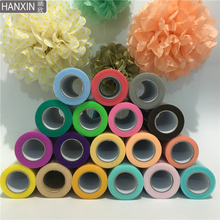 HANXIN Tulle Roll 6 Inch 25 Yards 22 Meters Wedding Birthday Party Decoration DIY Tulle Fabric Events Supplies Cloth(China)