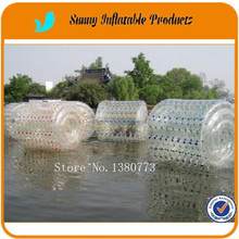 Kids and adults colorful TPU inflatable water roller ball for water park fun from Guangzhou zorb ball factory(China)