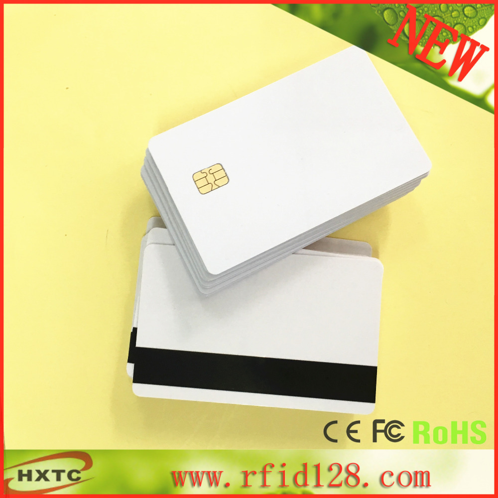 20PCS/Lot 2 in 1 Sle4442 Chip with Hi-Co  Magnetic Stripe  Contact Smart PVC IC Blank Card Printable By Zebra Printer<br><br>Aliexpress