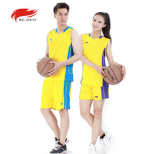 Breathable Basketball Basketball Suits Jersey Man and Woman Basketball Training Uniforms 6 Colors XL-5XL Can Print Logo