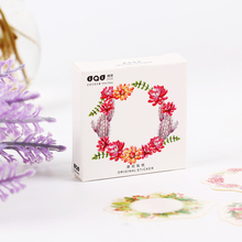90PCS/2sets Wreath Box Sealing Special Shaped Sticker DIY Hand Gift Bag Sealing Kawaii Decoration Stationery Stickers