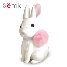 Semk Bunny Action Figure Cute Rabbits Doll Anime Toys Vinyl Coin Bank Best Gifts for Kids With Paper Box Gift Packing(China)