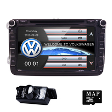 2 Din wince 8g maps Quad Core 800x480 Car DVD Player Stereo Navigation For VW Skoda POLO GOLF PASSAT CC JETTA TIGUAN car monito