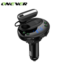 Bluetooth Car Kit Handsfree AUX MP3 Player Modulator Fm Transmitter Car Charger with Dual USB 3.1A Earphone Hands-free Call(China)