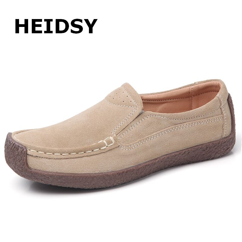 Flats Women Moccasins-Shoes Loafers Spring Female Big-Size Slip-On Comfortable Soft Autumn