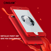 Cinsam 360 Degree Full Body Protection Air Cushion Corners High Quality Red Phone Case Cover For iPhone 6 6S 6 Plus 6S 7 7Plus
