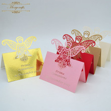New ideas 2018 exquisite 3D design wedding souvenirs laser cut table cards(China)