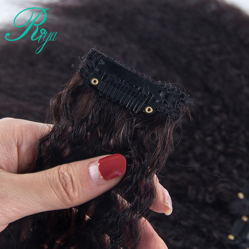 kinky straight clip in human hair extension (15)