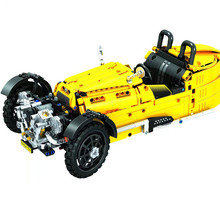 2017 New 838Pcs Technology Series Retro classic car Model Building Kits Blocks Bricks Children Toys For Compatible Gift(China)