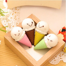 1Pcs Creative Stationery Correction Supplies Erasers Ice Cream Students Prizes Ribbing Gifts School Cartoon Kawaii Eraser H1072