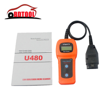U480 OBD2 OBDII Car/Truck AUTO Diagnostic Engine Scanner Fault Code Reader U 480 Car Diagnostic Tool With Fast Shipping